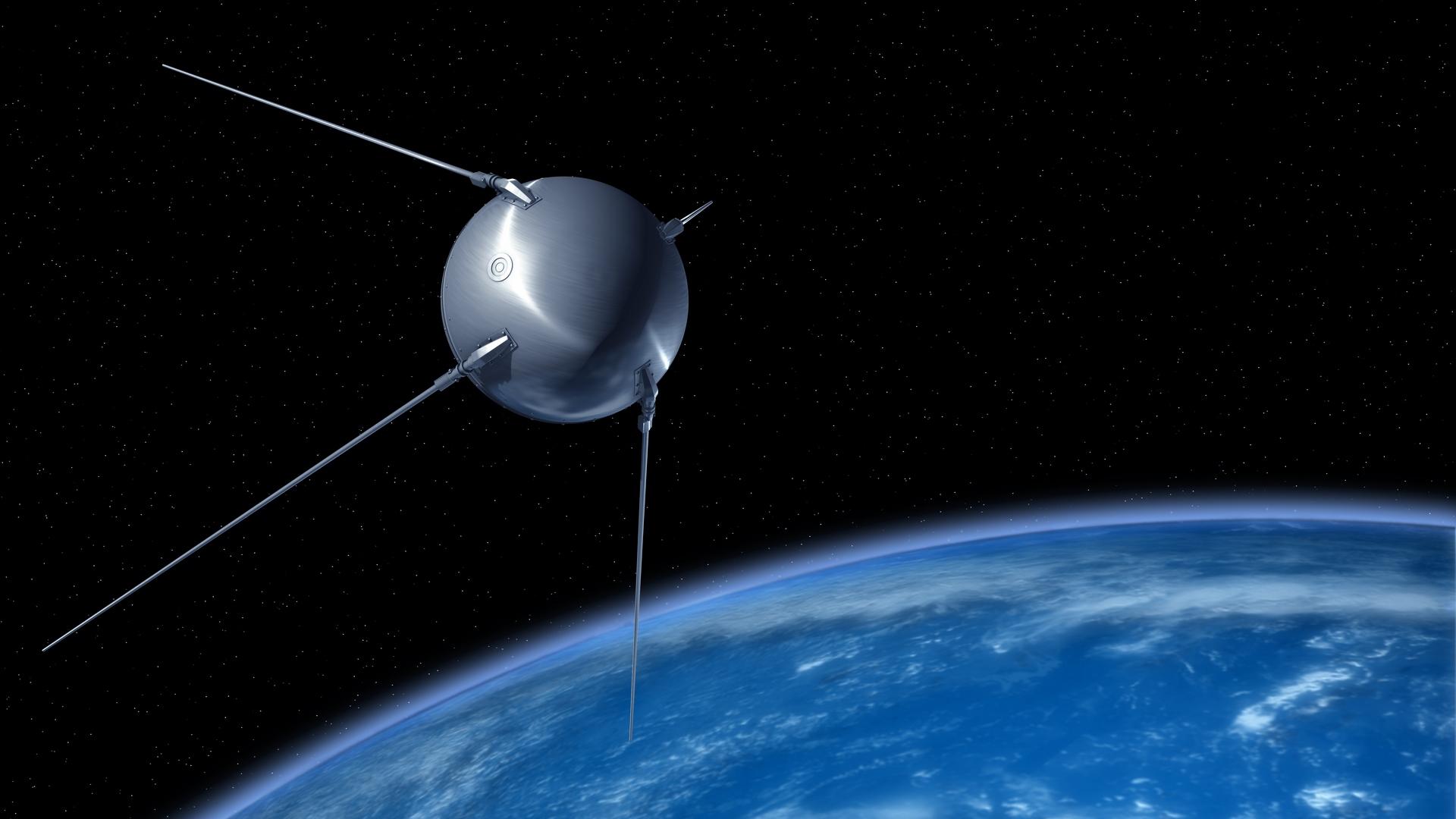 Резултат с изображение за изкуствен спътник Спутник-1.
